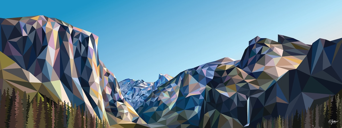 Geometric Landscape Art