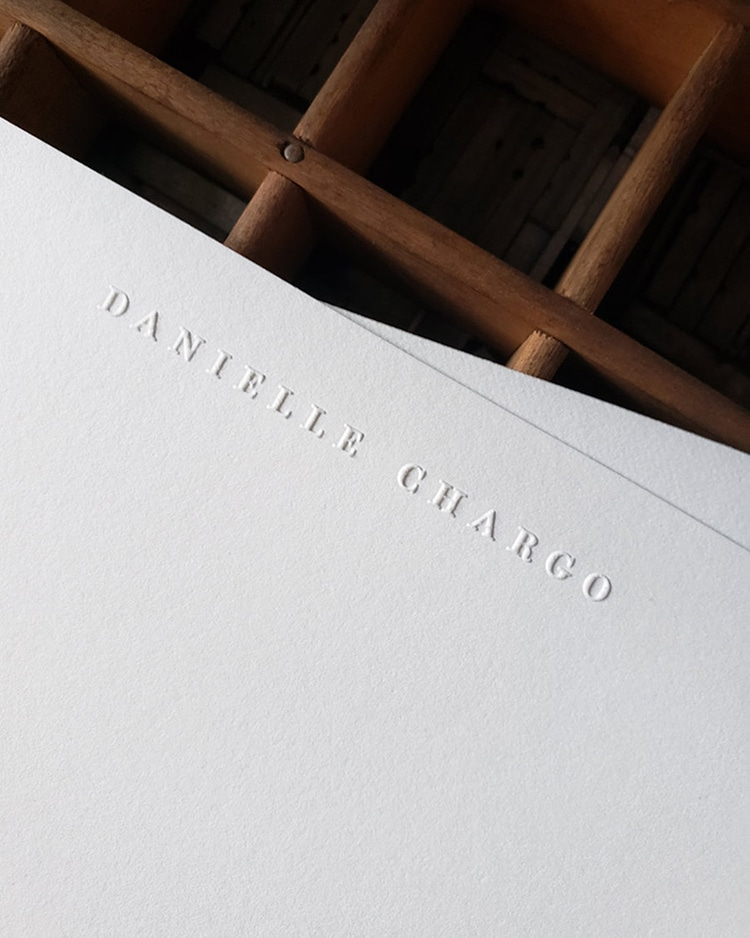 Embossed Personalized Stationary