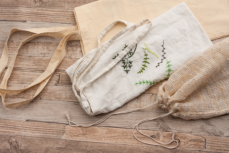 Embroidered Canvas Tote Personalization Craft