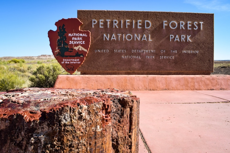 Entrance to the Petrified Forest National Park