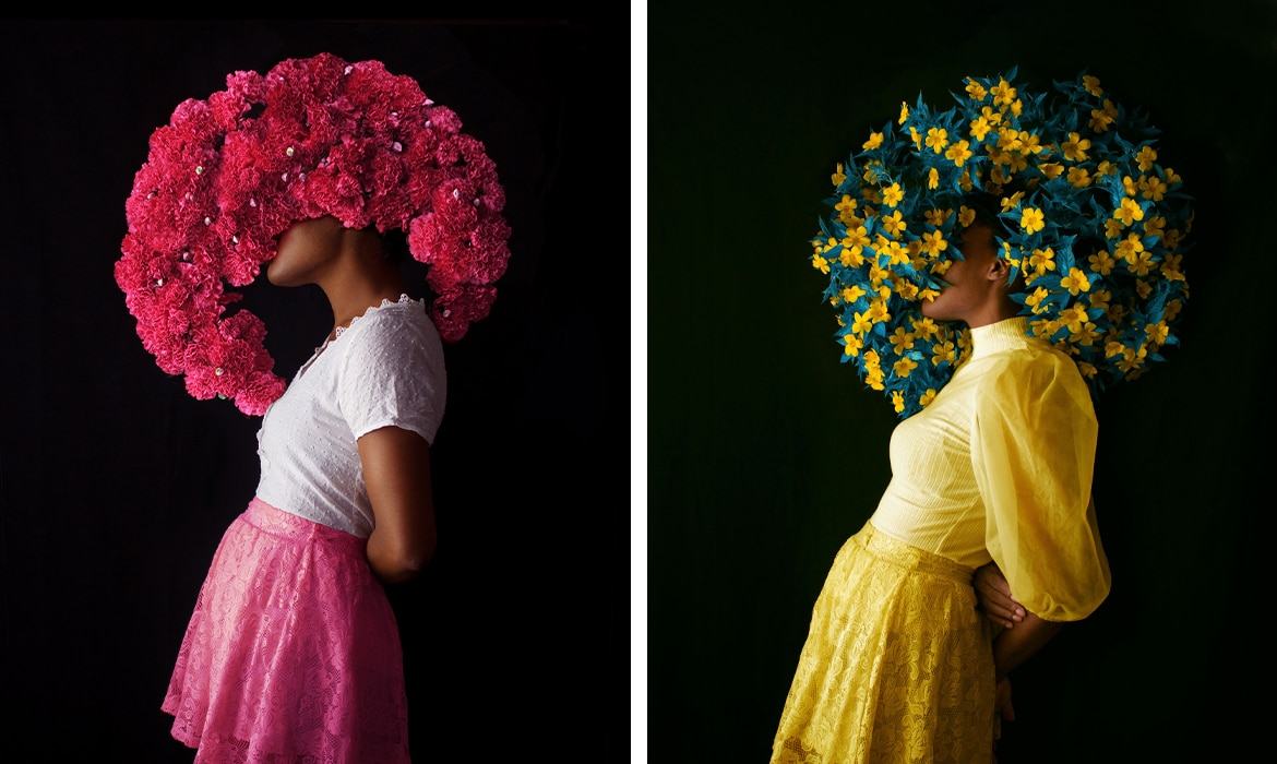 Photographer Fares Micue on Her Vibrant Floral Compositions and Unique Self Portraits