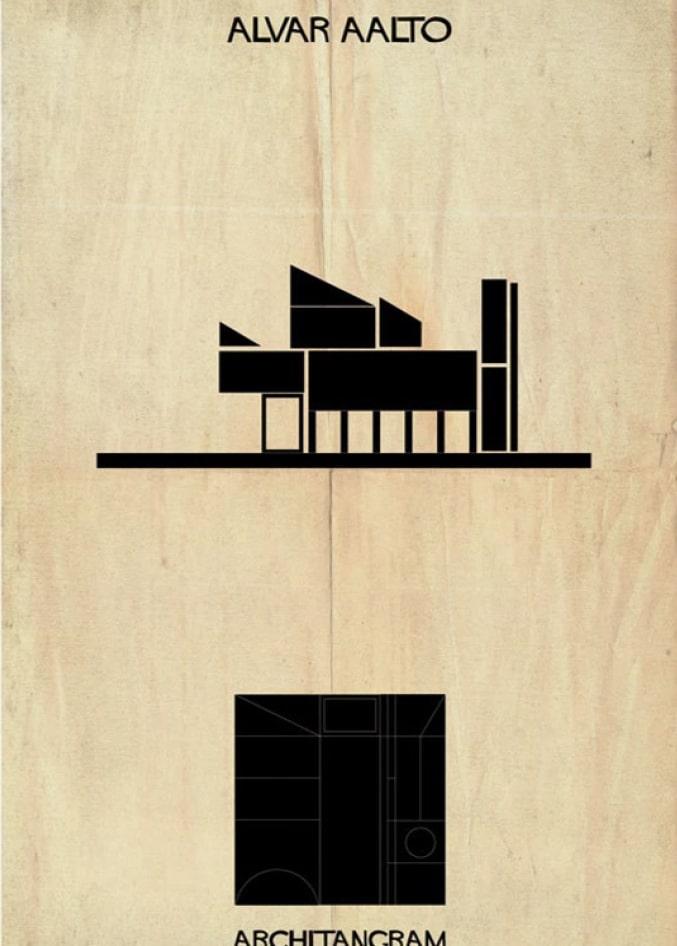 jeu architectural, Alvar Aalto