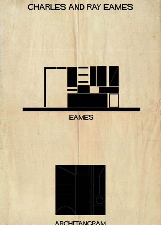 pièce du jeu représentant le travail de Charles et Ray Eames