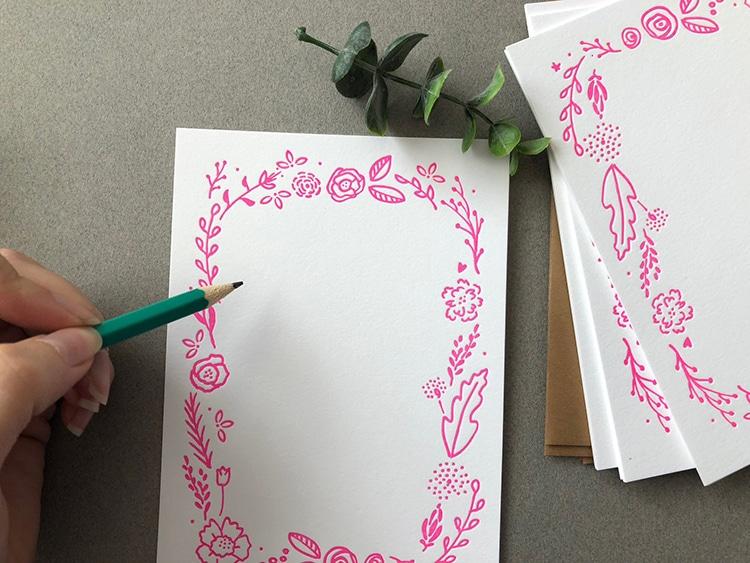 Floral Border Cards