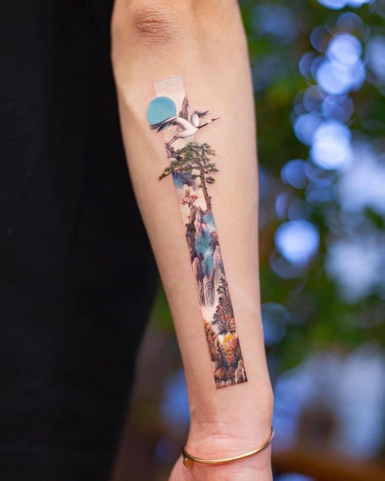 Tatuajes inspirados en el arte tradicional chino por Franky Yang