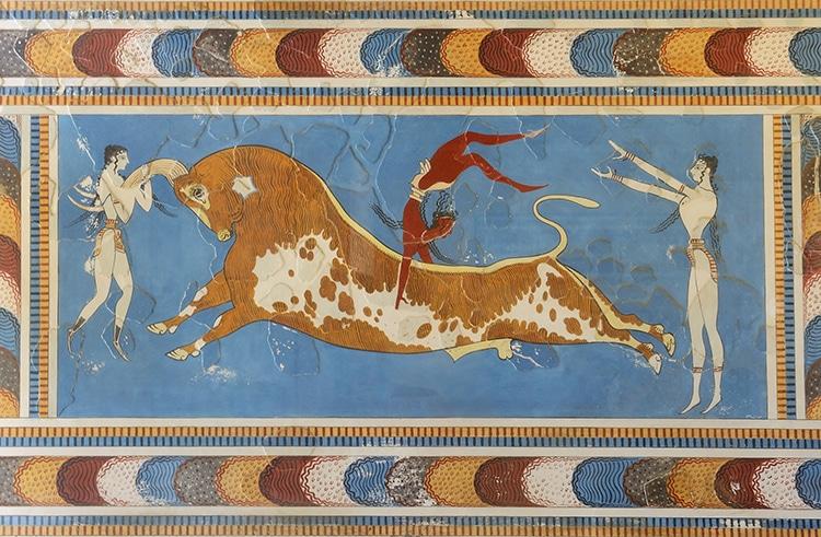 Bull Leaping Scene Fresco