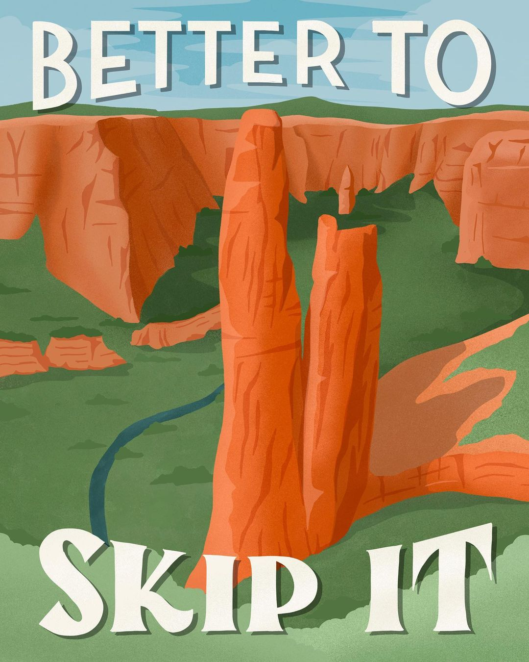 Funny National Park Review Posters by Amber Share