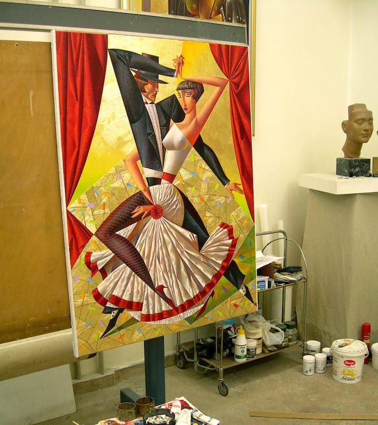 Neo-Constructivism Paintings by Georgy Kurasov