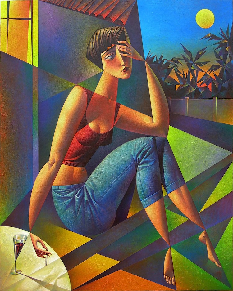 Neo-Constructivism Paintings by Georgy Kurasov