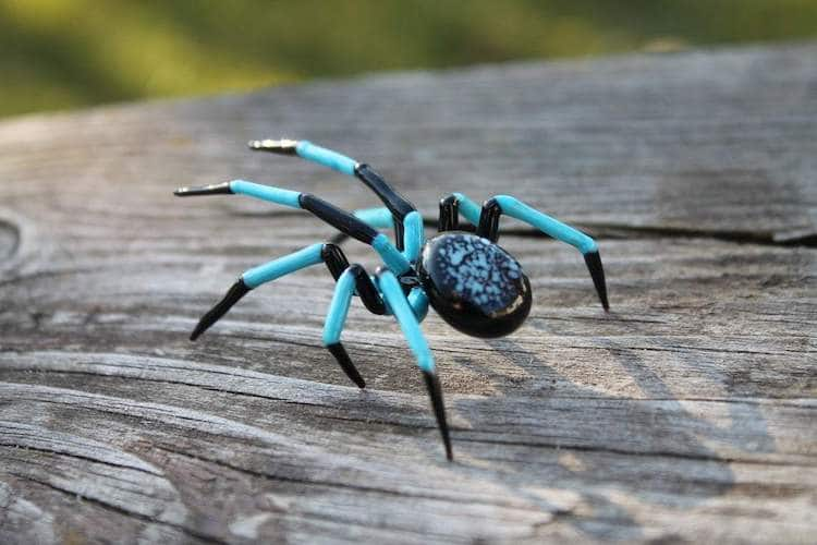 Hand Blown Glass Spiders