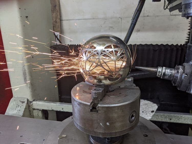 Greg Blanpied Design Geometric Candle Holders