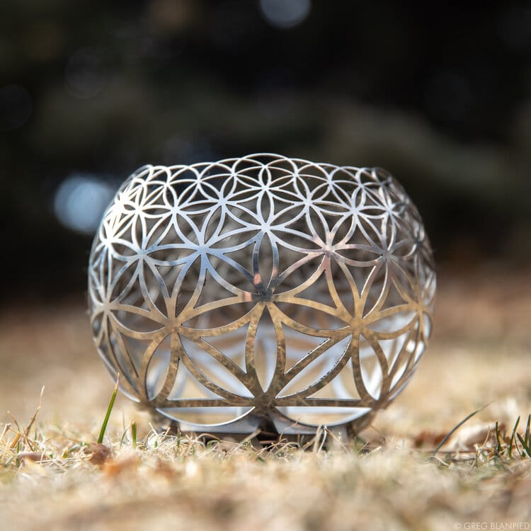 Flower of Life Geometric Candle Holder