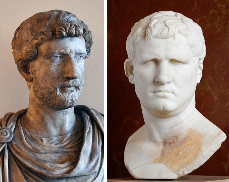 Hadrian and Agrippa Roman Emperors