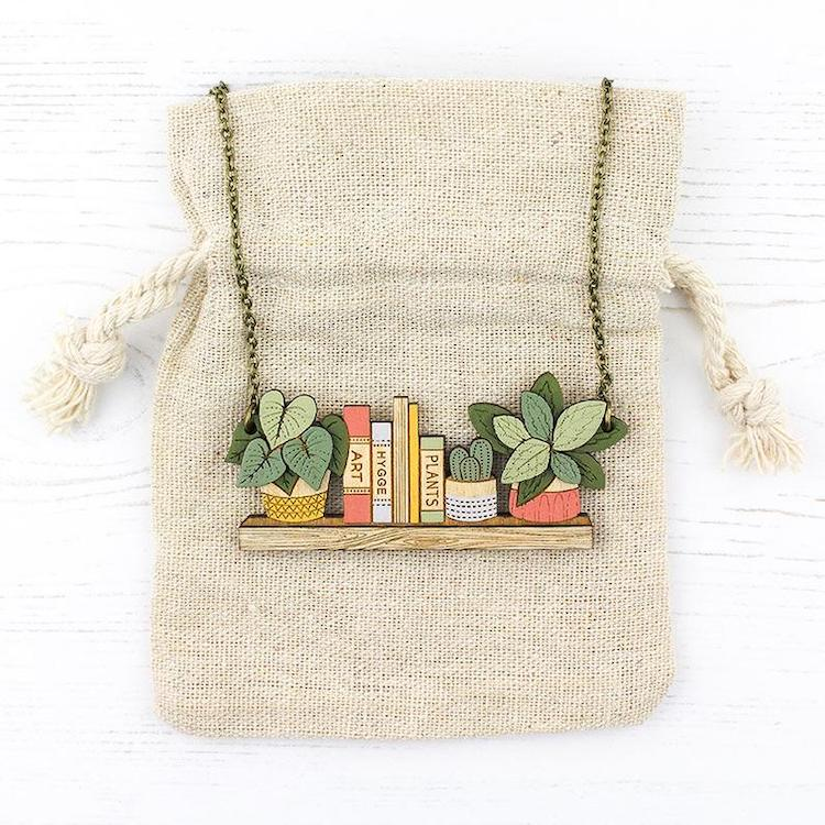 Houseplant Wooden Jewelry by Layla Amber