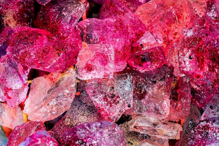Pink Dye on Ice