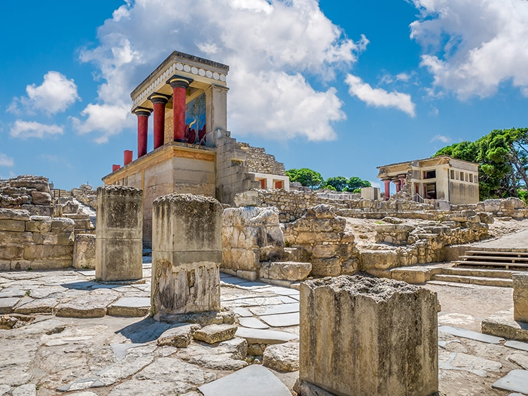 Knossos Palace in Crete, Built by the Bronze Age Minoans