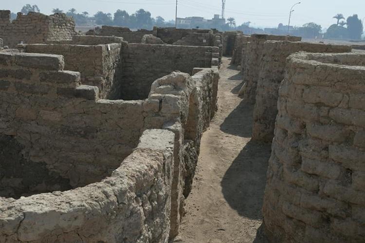 Ciudad dorada perdida de Lúxor, Egipto