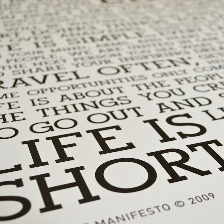 Typography Poster by Holstee