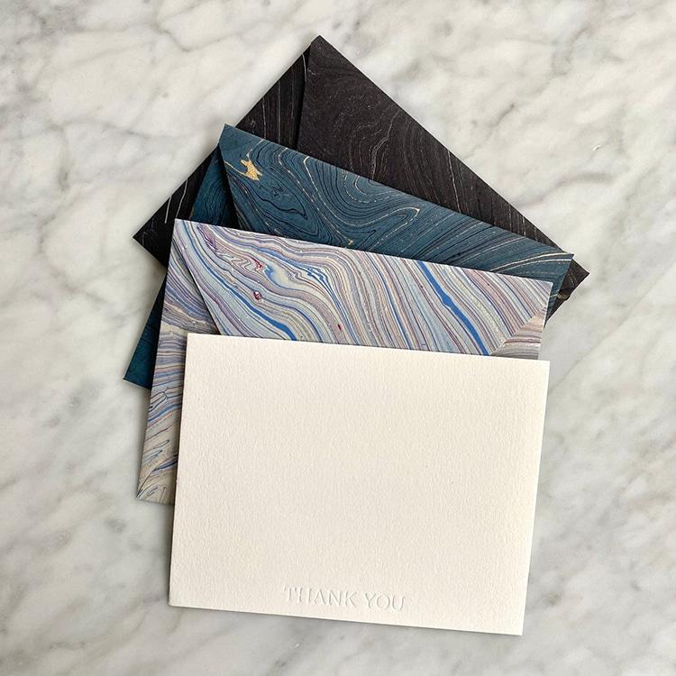 Marbled Paper Envelopes