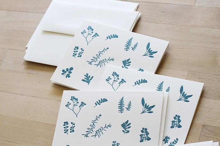 Medicinal Plants Letterpress Stationary Set