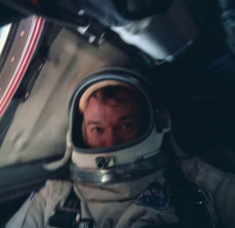 Michael Collins aboard Gemini 10