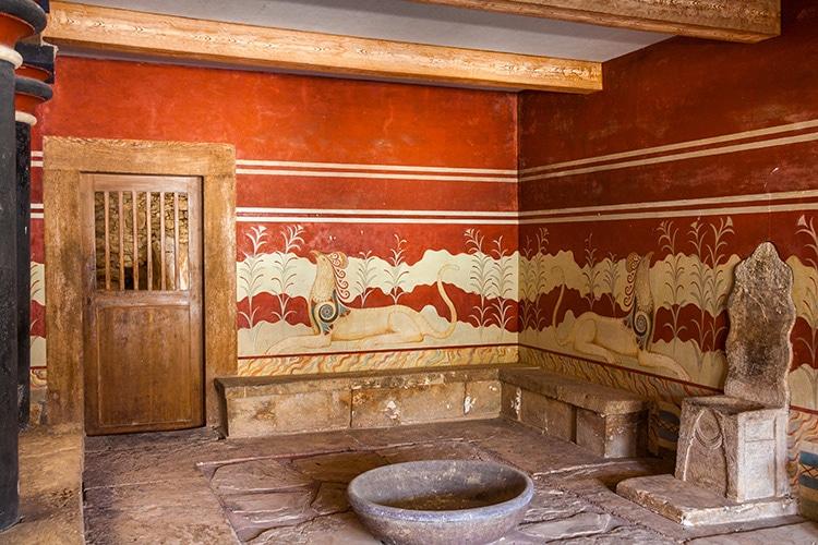 Minoan Bronze Age Throne Room at Knossos