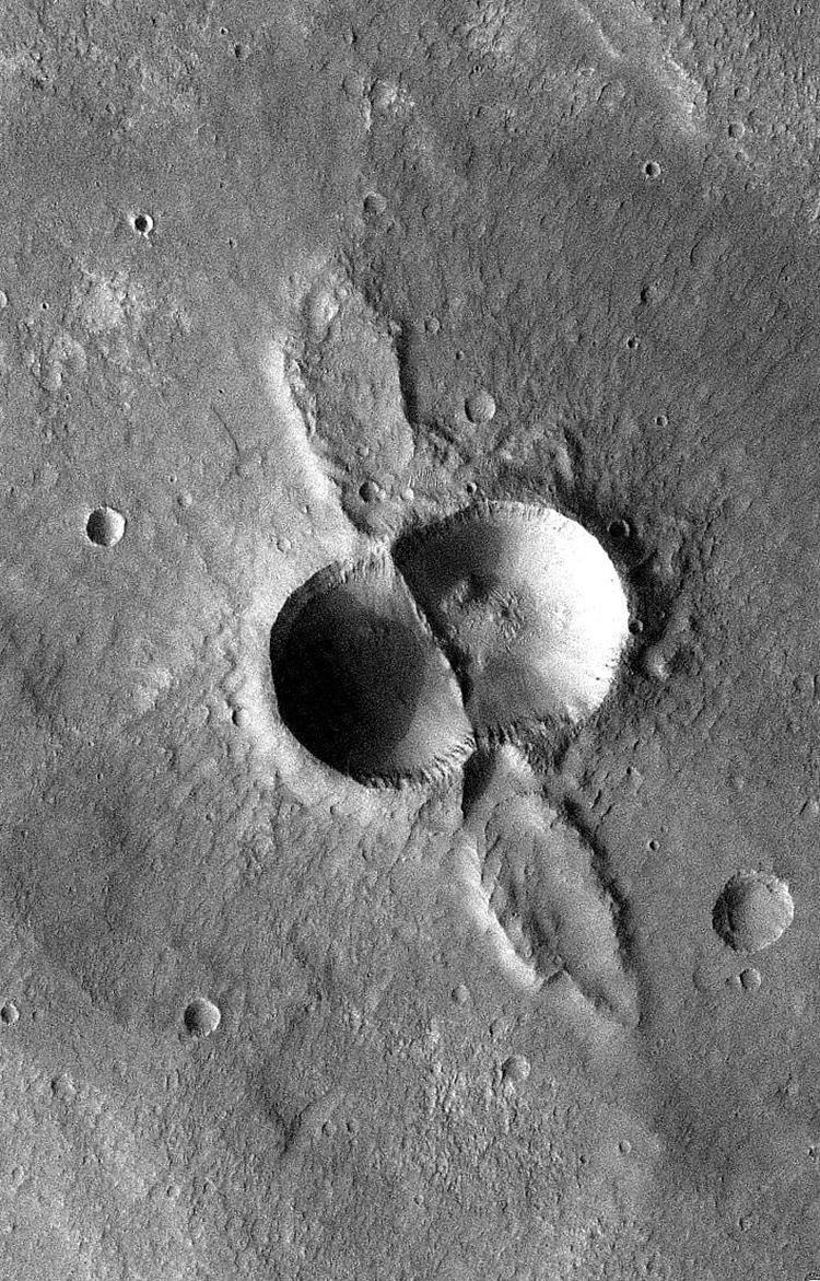 NASA Mars Crater