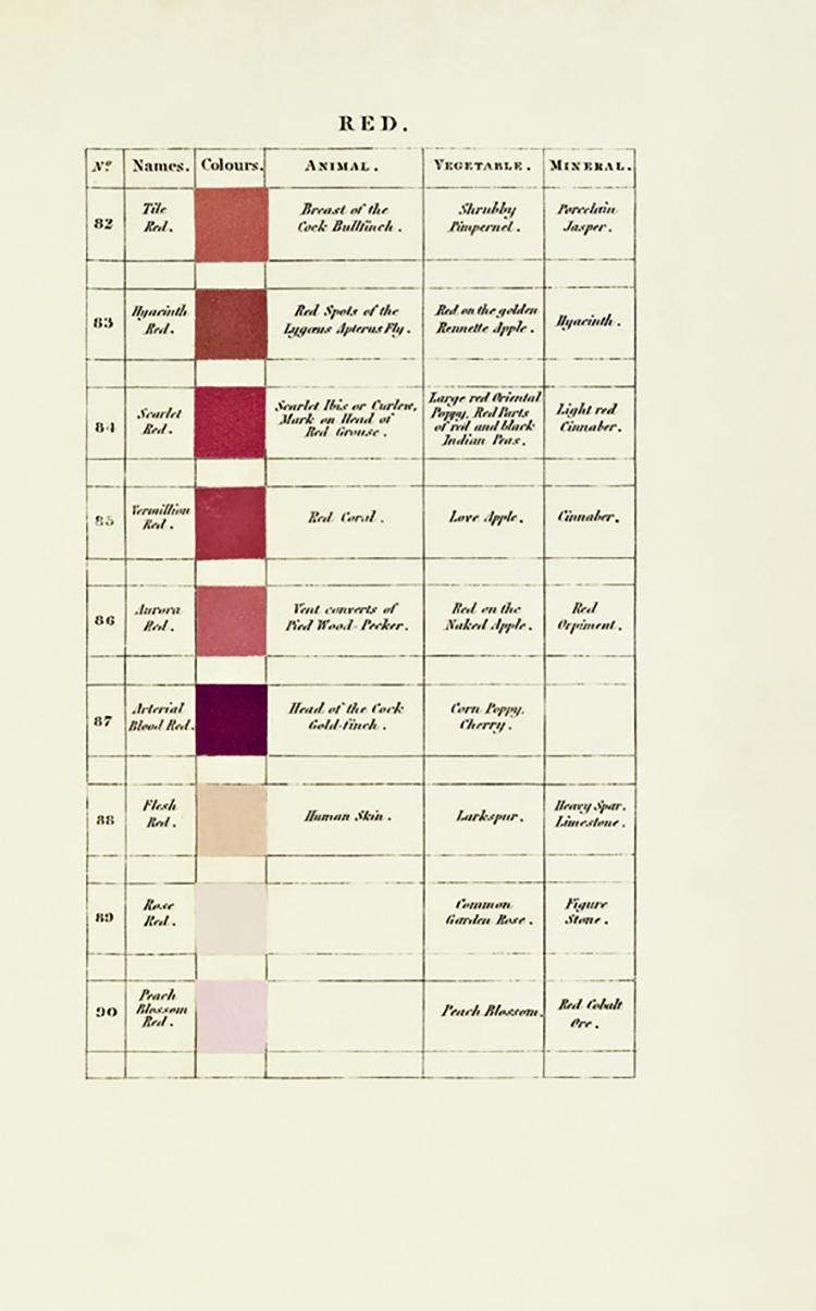 La paleta de rojos de Werner, página 7