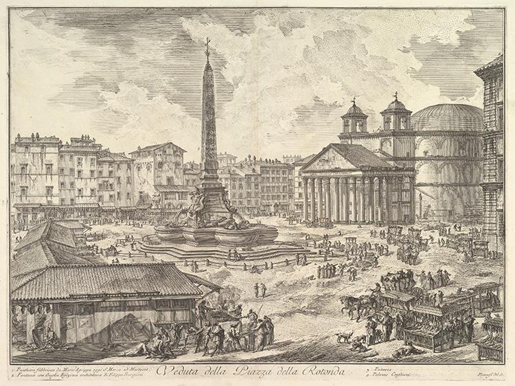Piazza della Rotonda, with the Pantheon and Obelisk