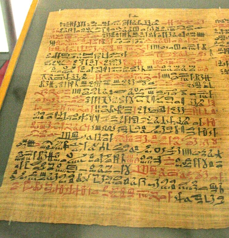 Ebers Papyrus Ancient Egyptian Herbal Medicinal Text