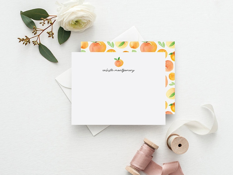 Peach personalized Stationary