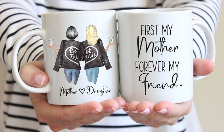 Personalized Mother Daughter Best Friend Mug