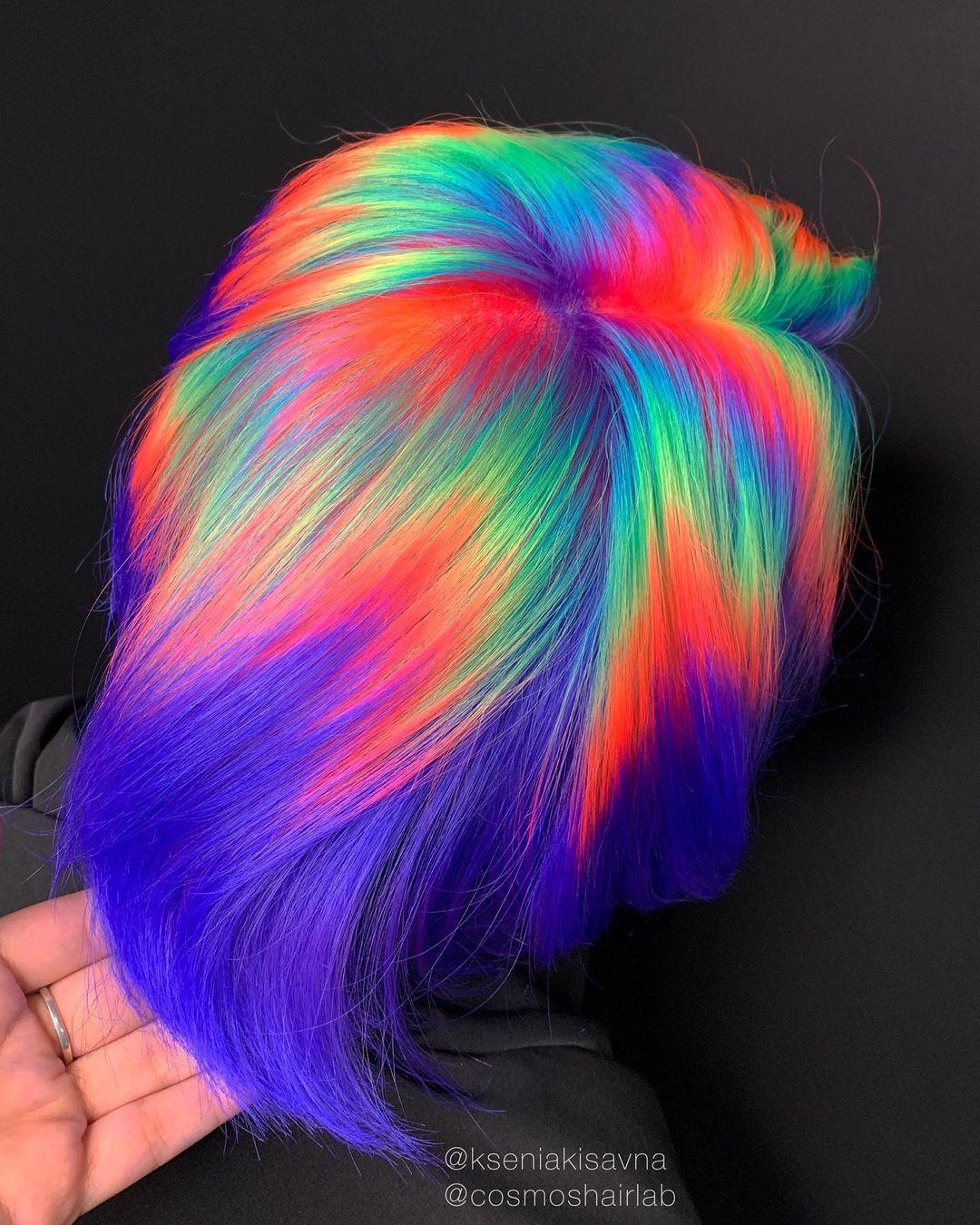 cabello arcoiris