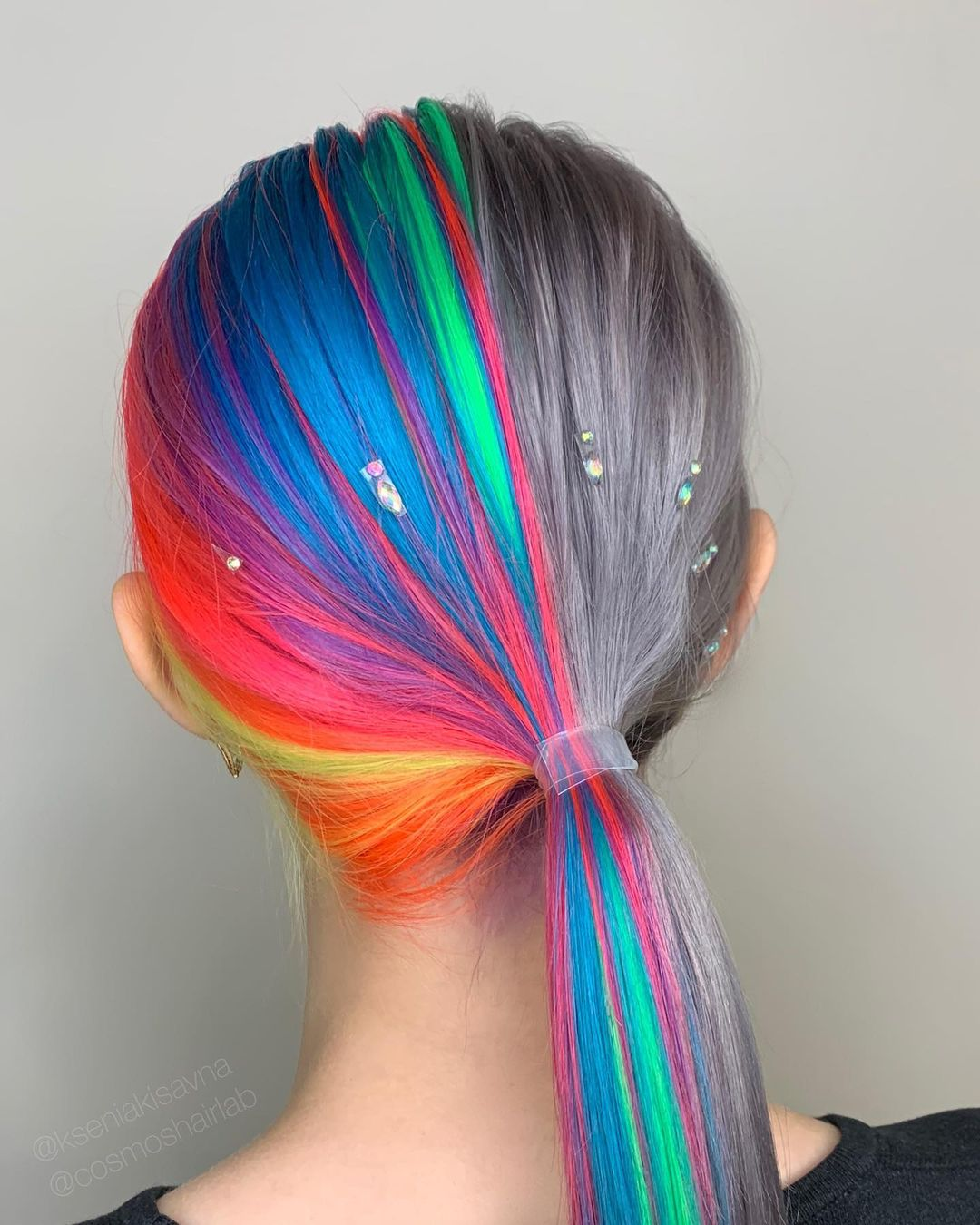 cabello de varios colores