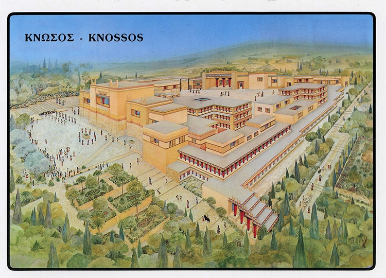 Reconstruction Rendering of Knossos