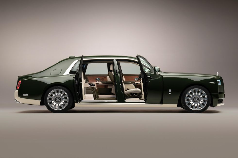 Rolls-Royce and Hermès Phantom Oribe with Doors Open