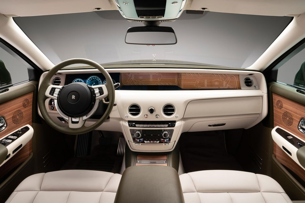 Interior of Rolls-Royce and Hermès Phantom Oribe