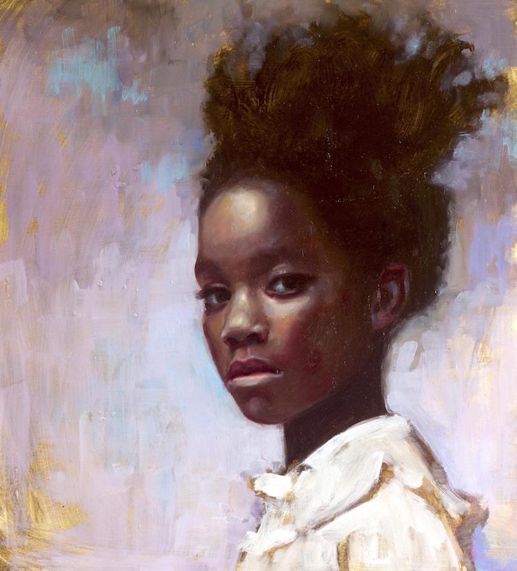Portrait Paintings by Rosso Emerald Crimson
