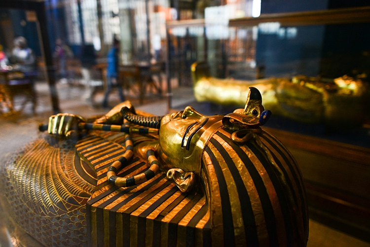 Royal Mummies Egyptian museum Cairo Pharaohs' Golden Parade