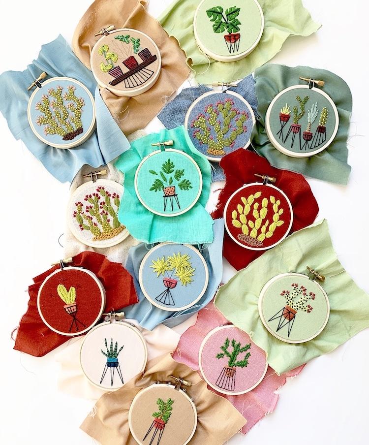 Embroidery Artist Sarah K. Benning on Top Artist Podcast