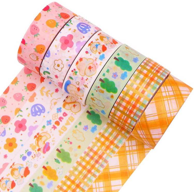 Washi Tape con patrones de colores
