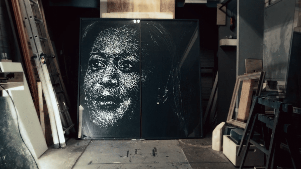 Shattered Glass Portrait of Kamala Harris by Simon Berger