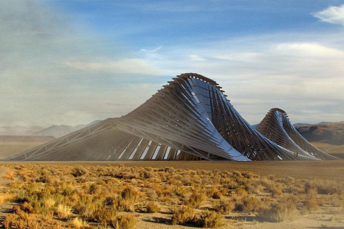 Solar Mountain Is a Permanent Art Installation That Would Produce 300 MWH of Renewable Energy at Burning Man