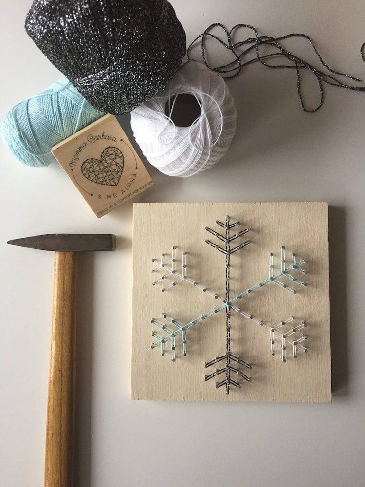 Snowflake String Art Kit