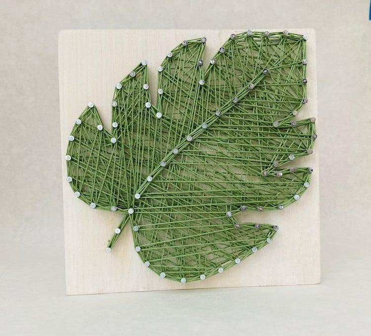 Monstera Leaf String Art