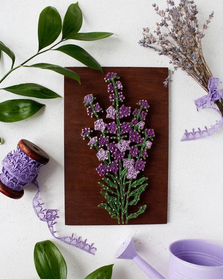 Lavender String Art