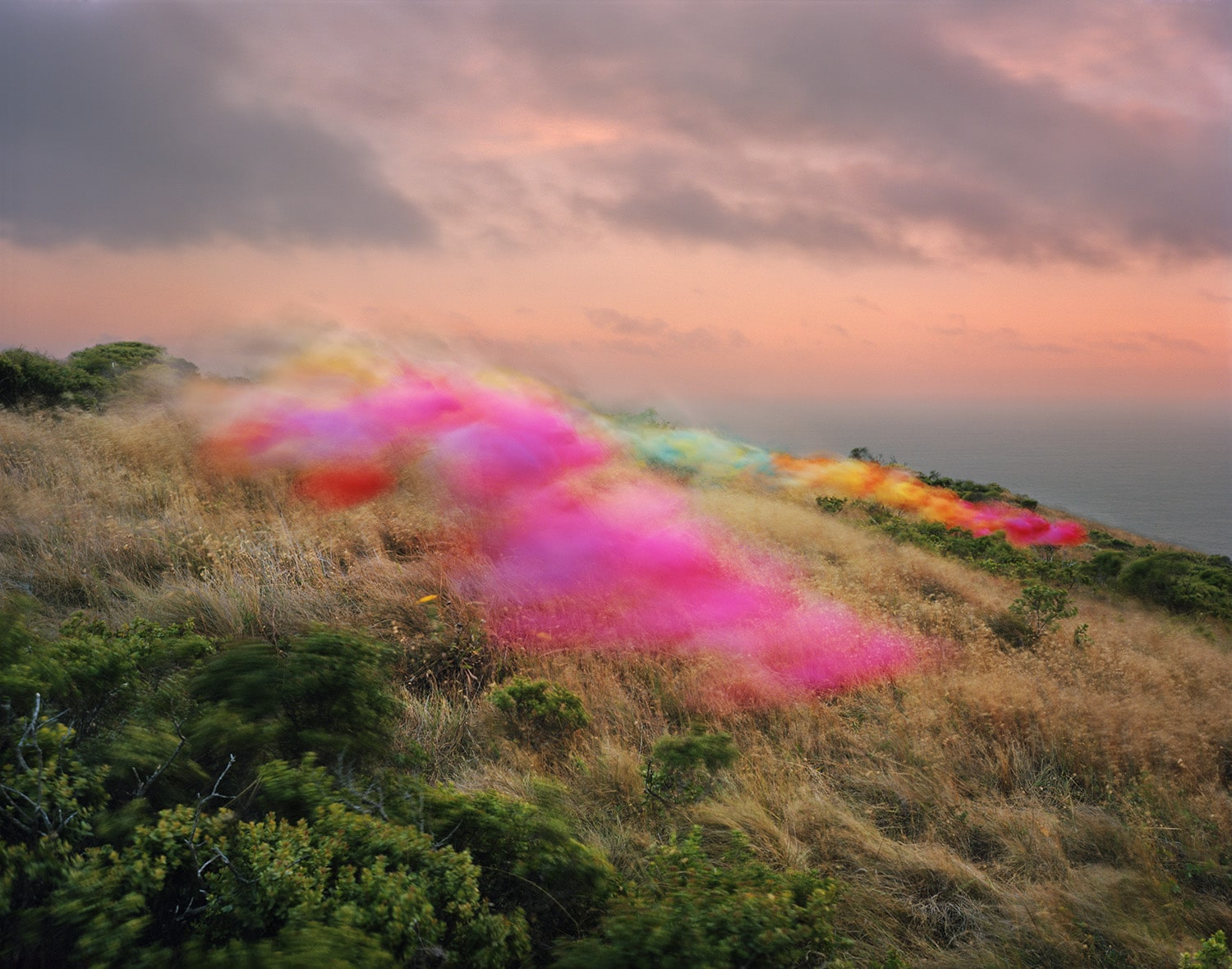 Photographs of Tulle Floating Over Landscapes by Thomas Jackson