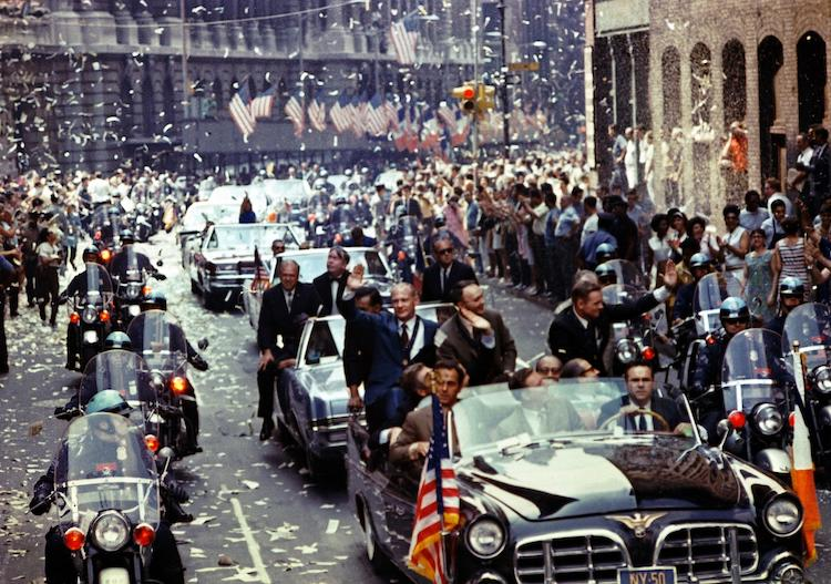 Parade in New York City welcoming home the Apollo 11 crew.