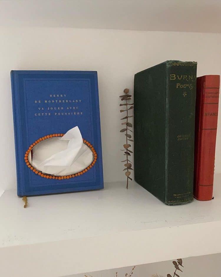 Livres à mouchoirs par Inès Mélia