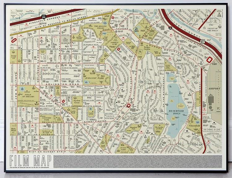 USA Film Buff Map Poster